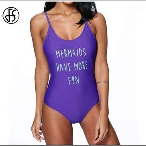 Other - Mermaids Have More Fun Purple One Piece Swim Suit